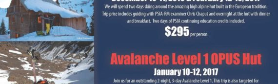 Alpenglow Ski Safaris adds PSIA credited events in Dec, Jan.